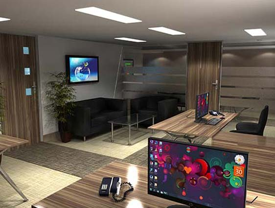 3D Office Furniture Rendering