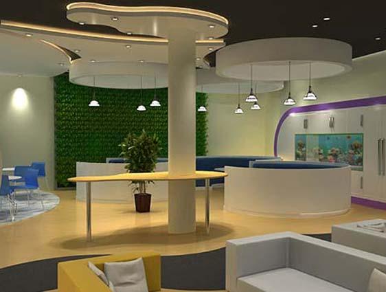 3D Waiting Room Rendering