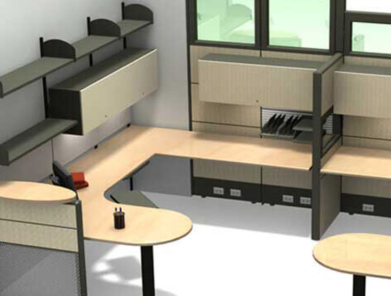 Office Furniture Rendering