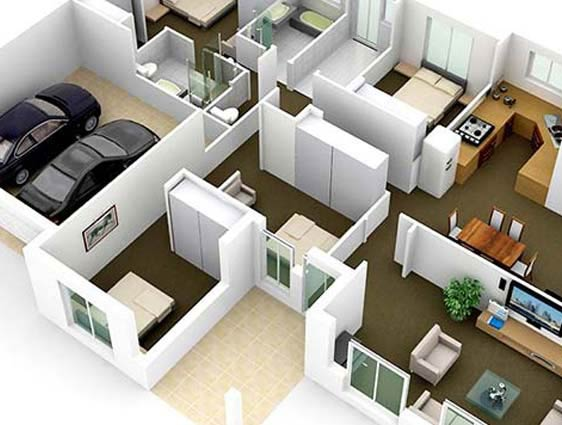 3D Building Design Plan