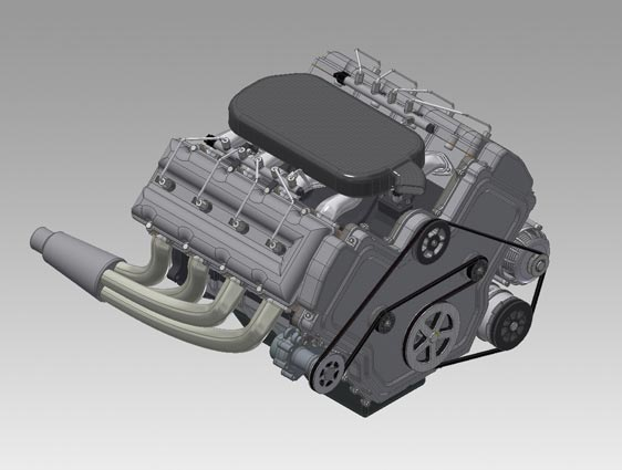 3D CAD Model of Engine