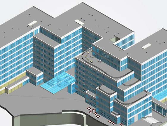 3D BIM Modeling of Multistory Mix use Building