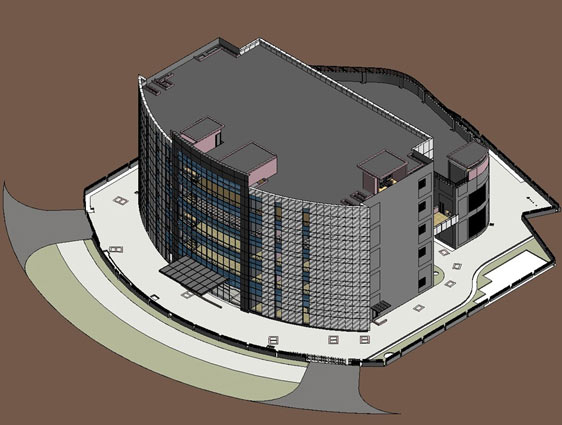 Architectural 3D Model of Data Center Building