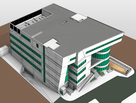 Revit BIM Model for Hospital Building