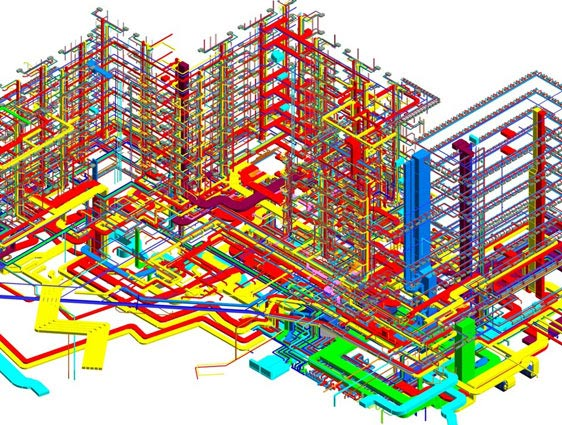 MEP Model of Multistorey Mix used Building