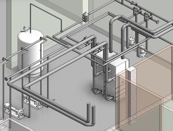 3D BIM MEP Model