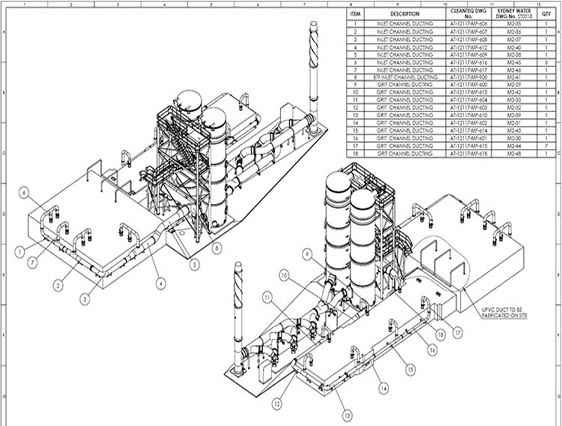 2D CAD Drafting of Recycling Plant