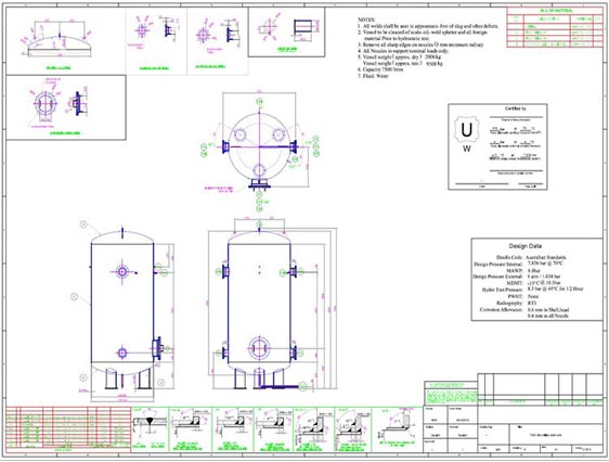CAD Drafting for Pressure Vessel