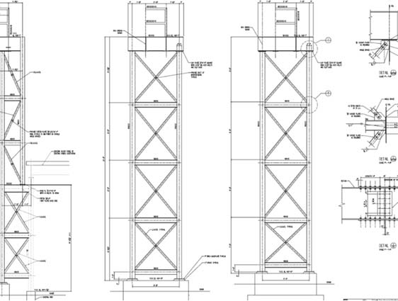 CAD Shop Drawing of Stair Tower
