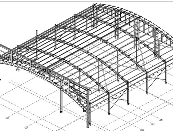 Structural Roof Drawing for Railway Station