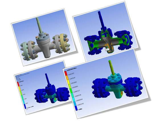 FEA Analysis of Gate Valve Assembly