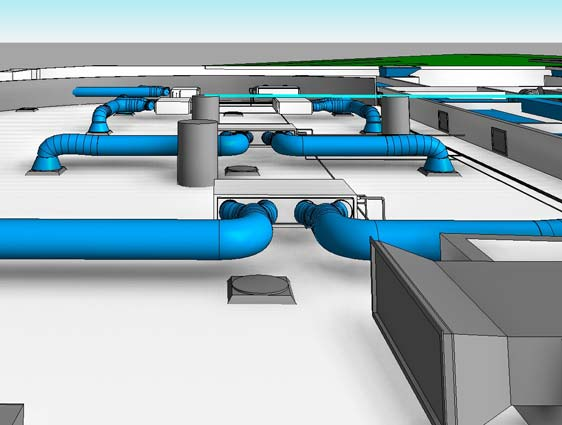 3D CAD Model of HVAC