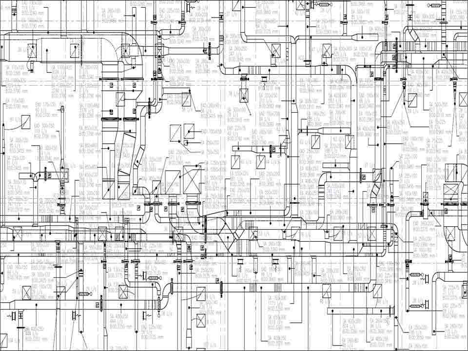 Construction Level 2D MEP Drawing
