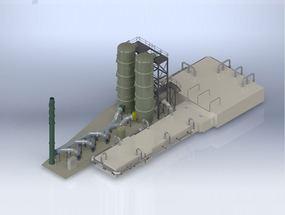 3D Modeling Recycling Plant