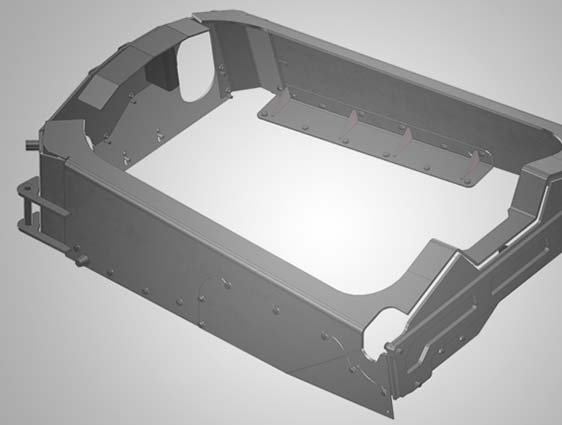 Solidworks CAD Model of Sheet Metal Part