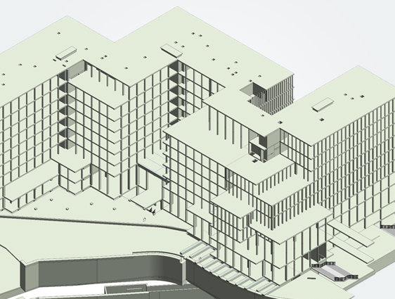 Revit Structural BIM Model of Building