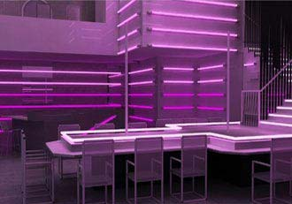 3D Rendering of Night Club in USA