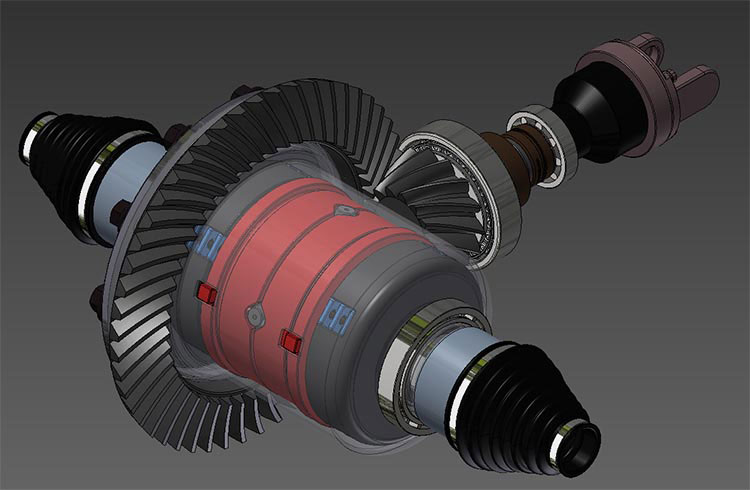 3D CAD Model - Automotive Differential