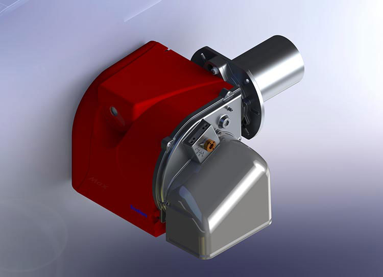 3D Rendering of Industrial Gas Burner