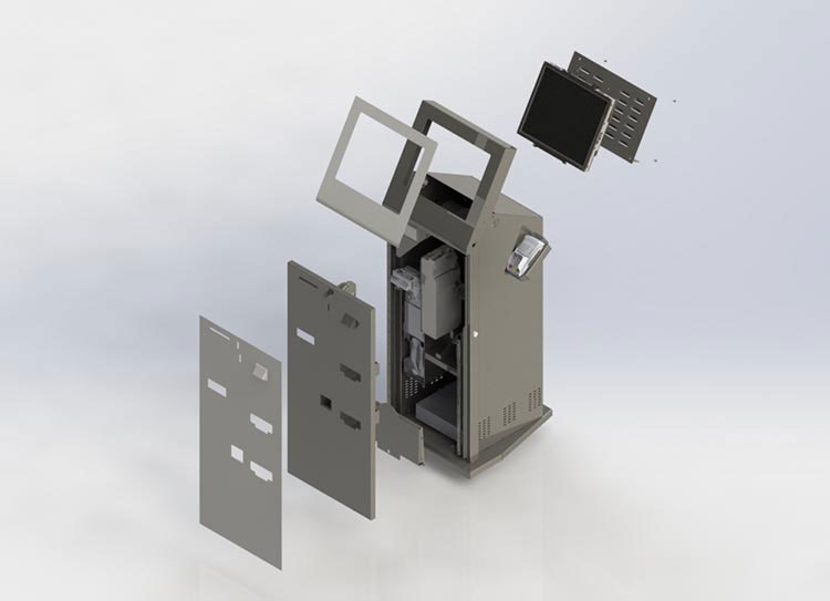 3D Rendering of Kiosk - Exploded view
