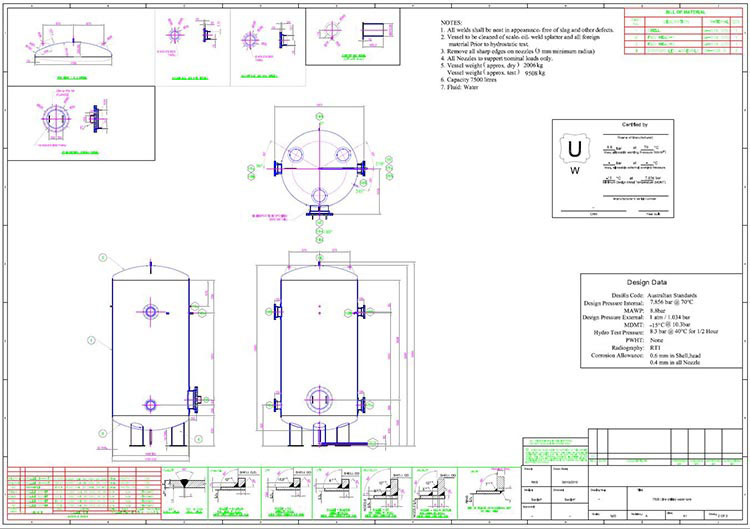 2D-Drafting-of-Pressure-Vessel-Design