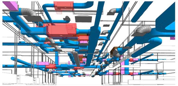 MEP Model of Commercial Building