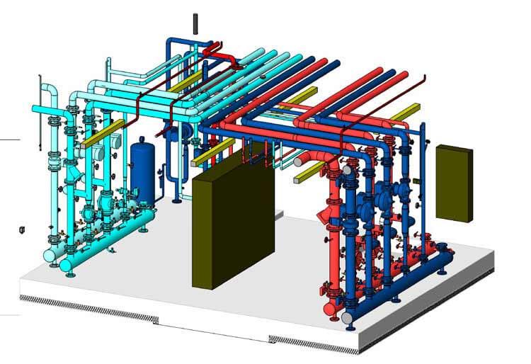 Plant Room MEP Model