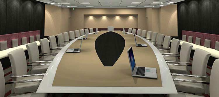 3D Conference Room Rendering