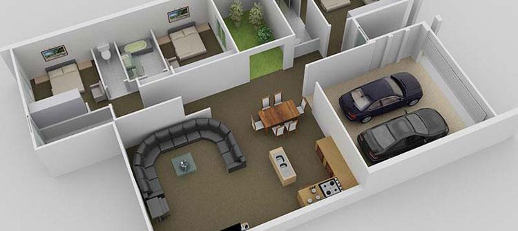 3D Floor Plan Design Services, 3D House Design Services