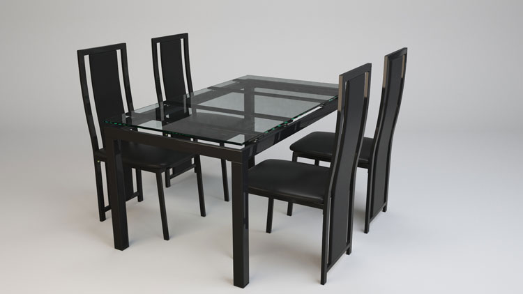 3D Model of Dinining Table