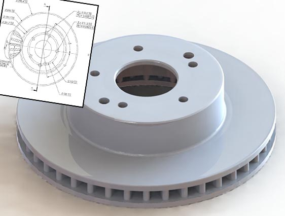 3D Model of Automotive Rotor