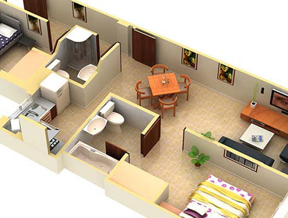 Floor Plan Design Rendering