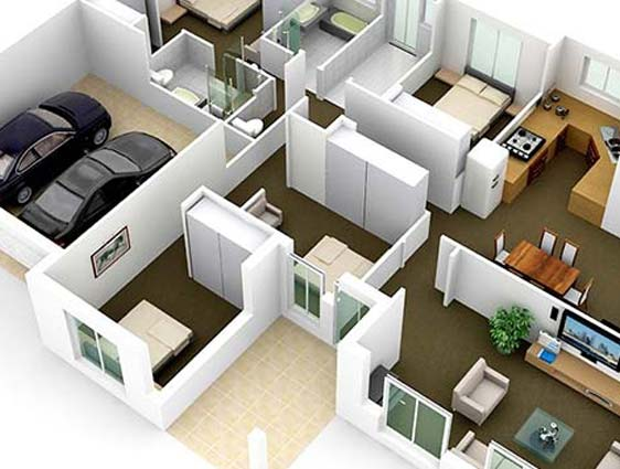 Intereactive 3D Floor Plan Design